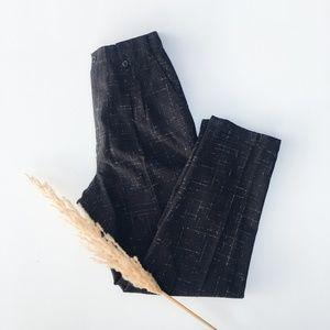 Vintage Pants - Vintage 80's JnCo Tweed Tapered Trousers - Blk